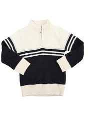 Sweatshirts & Sweaters - Color Block Quarter Zip Sweater (2T-4T)