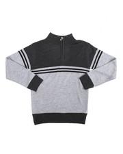 Arcade Styles - Color Block Quarter Zip Sweater (8-20)