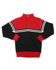Sizes 8-20 - Big Kids - Color Block Quarter Zip Sweater (8-20)