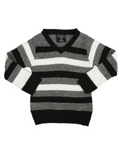 Sweatshirts & Sweaters - Multi-Color Stripe Sweater (2T-4T)
