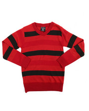Sweatshirts & Sweaters - Multi-Color Stripe Sweater (8-20)