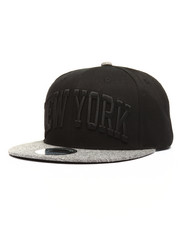 Men - Heather Grey Brim New York City Snapback
