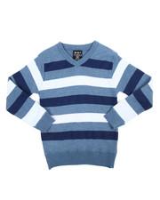 Arcade Styles - Multi-Color Stripe Sweater (8-20)