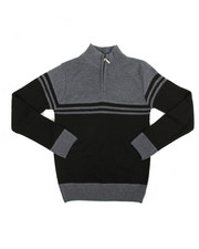 Boys - Color Block Quarter Zip Sweater (8-20)