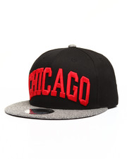 Men - Heather Grey Brim Chicago City Snapback