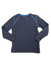DKNY Jeans - L/S Baby Terry Slub Henley (8-20)