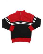Arcade Styles - Color Block Quarter Zip Sweater (4-7)