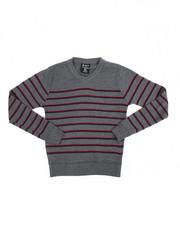 Arcade Styles - Multi-Color Stripe V-neck Sweater (8-20)