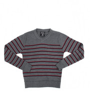 Sweatshirts & Sweaters - Multi-Color Stripe V-neck Sweater (8-20)