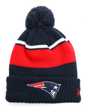 Hats - New England Patriots Callout Cuff Pom Pom Beanie