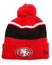 Hats - San Francisco 49ers Callout Cuff Pom Pom Beanie