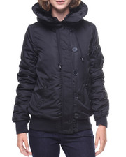 Light Jackets - Split Hood Bomber Jacket