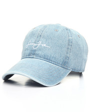 Dad Hats - Denim Wash Script Logo Dad Hat-2154170