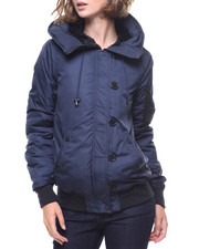 Madden Girl - Split Hood Bomber Jacket