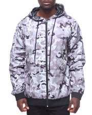 Hudson NYC - LOVE IS LOVE CAMO NYLON ZIP JACKET