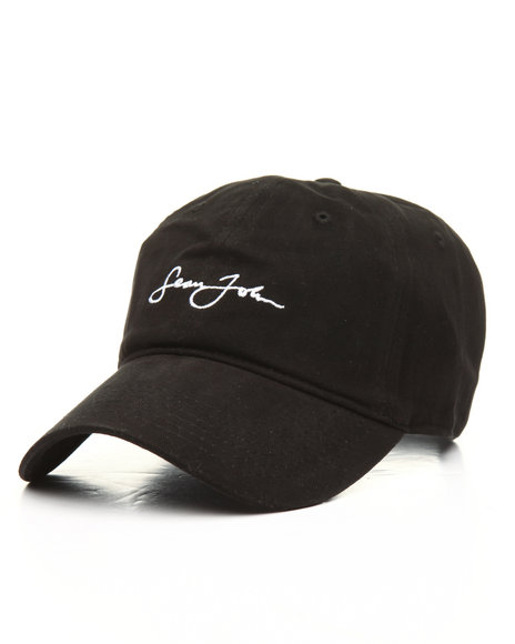 b27b429c933 Buy Script Embroidered Logo Dad Hat Men s Hats from Sean John. Find ...