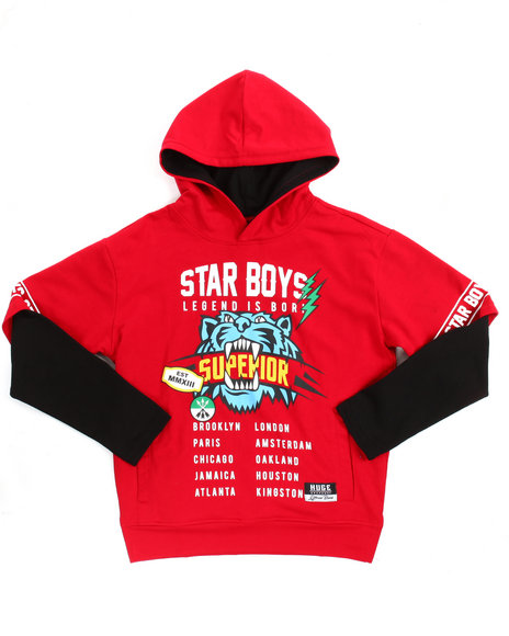 Arcade Styles - French Terry Hooded Graphic Tee (8-20)