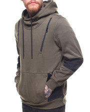 Hoodies - Fleece Hoody w Neoprene Zipper