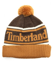 Timberland - Color Blocked Watchcap With Pom Pom