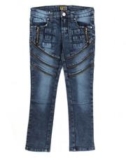 Jeans - Fashion Cut & Sew Zipper Jean (8-20)