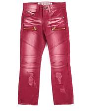 Arcade Styles - Fashion Moto Twill Jeans (4-7)