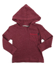 Arcade Styles - L/S Heather Fleck Hooded Tee (4-7)