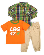 Sets - 3 Piece Woven Shirt Set (Infant)