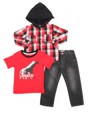 Sizes 2T-4T - Toddler - 3 Piece Woven Shirt Set (2T-4T)