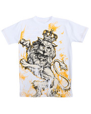 T-Shirts - S/S Big Lion Cuts Tee (8-20)