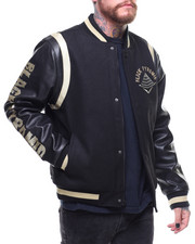 Black Pyramid - Drip Logo Varsity Jacket