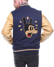Buyers Picks - Cartoon Varsity Jacket PU Sleeves