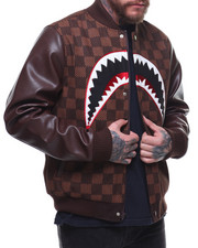 Hudson NYC - SHARK MOUTH CHECKER VARSITY JACKET