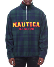 Light Jackets - Lil Yachty Plaid 1/4 Zip Fleece Jacket