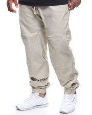 Big & Tall - Solid Twill Stretch Joggers (B&T)