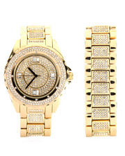 Buyers Picks - Techno Pave Iced Out Watch & Bracelet Set