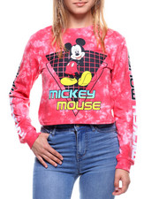 Women - L/S Team Mickey Crop Tee Tie Dye