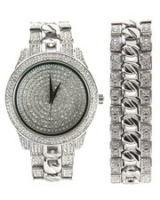 Buyers Picks - Techno Pave Cuban Watch & Bracelet Set
