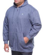Hoodies - Marled Full Zip L/S Fleece Hoodie (B&T)