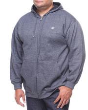 Champion - Marled Full Zip L/S Fleece Hoodie (B&T)