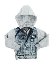 Boys - Hooded Denim Jacket (2T-4T)