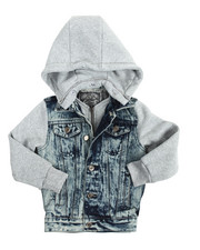 Light Jackets - Hooded Denim Jacket (4-7)