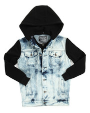 Boys - Hooded Denim Jacket (8-20)