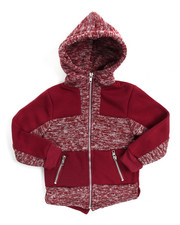 Boys - Color Blocked Full Zip Fishtail Hoody (2T-4T)