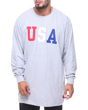 Big & Tall - L/S USA Tee (B&T)