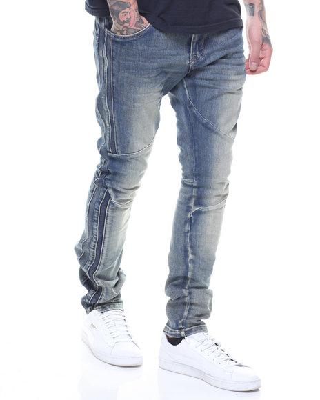 SMOKE RISE - Side seam moto Articulated Jean