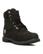 "Timberland -  6"" Premium Leather and Velvet-Accent Waterproof Boots"