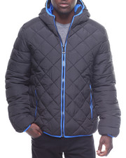 Light Jackets - Quilted Bubble Jacket Contrast Lining