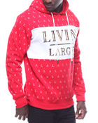 All Over Print Livin Large Pullover Hoodie