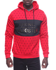 Men - All Over Print Original Gangster Pullover Hoodie