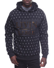 Men - All Over Print Livin Large Pullover Hoodie